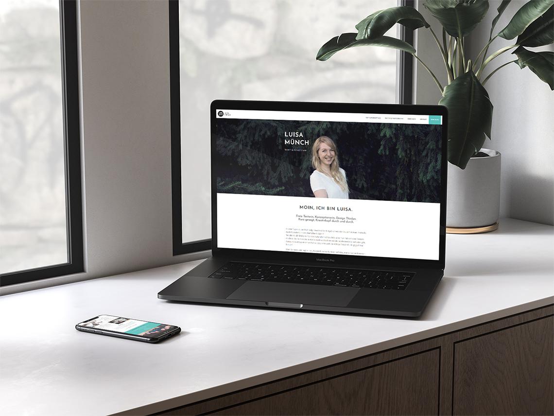 Portfolio Webdesign Projekt Luisa Münch